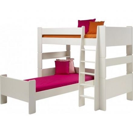 White L Shaped Bunk Beds